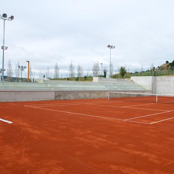Pista central tenis tierra batida